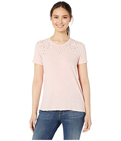 Lucky Brand Embroidered Tee (Blossom) Women