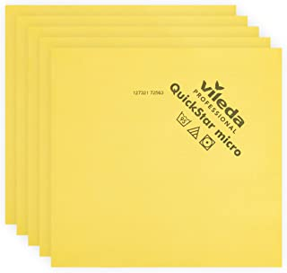 Vileda Professional | QuickStar Mircofiber Cloth | Effective Streak Free Cleaning | Removes Dust & Fingerprints