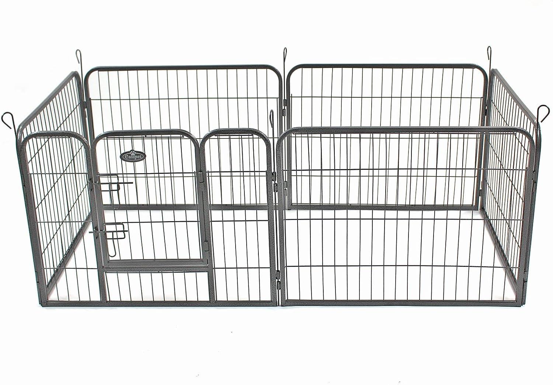 Easipet Heavy Duty 6 Panel Dog Pet Playpen Run Enclosure Whelping Pen Metal Cage (Medium)
