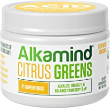 Alkamind Daily Greens Citrus - GET Off Your Acid with 21 Superfoods to Alkalize & Energize & Balance Your