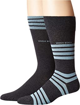 2-Pack Combed Cotton Stripe Socks