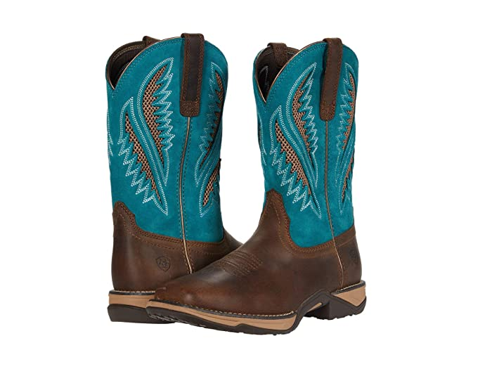 Ariat  Anthem VentTEK (Chocolate Chip/Turquoise) Cowboy Boots