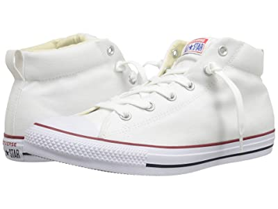 Converse Chuck Taylor(r) All Star(r) Street Core Canvas Mid (White/Natural/White) Lace up casual Shoes