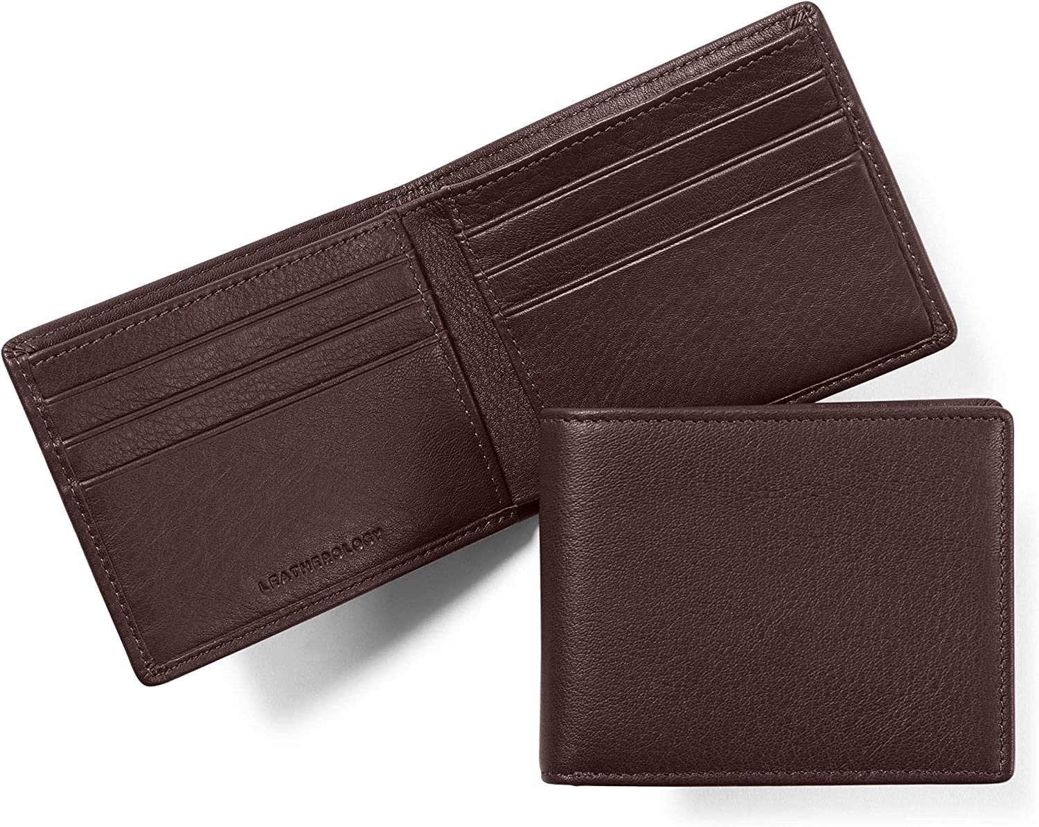 Leatherology Brown Men's Thin Bifold Wallet - RFID Available