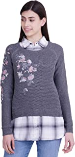 ICABLE Women's Wool Collared Neck Sweater