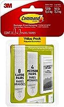 Command Foto hangende strips, Value Pack, 12 paar: 4-medium, 8-grote paren, versieren schadevrij