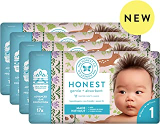 The Honest Company Baby Diapers with TrueAbsorb Technology, Forest Floor, Size 1, 140 Count