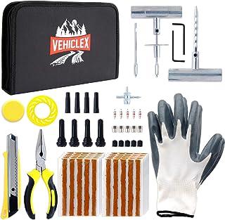 Vehiclex Emergency Tire Repair Kit, 85 PCS – Hi-Grade Tools & Supplies for Flat Tire Punctures Repair