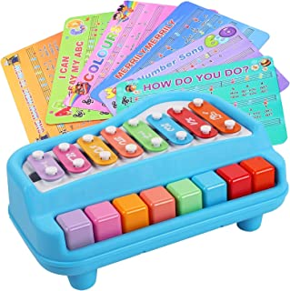 Digabi Toddler Musical Instruments - 2 in 1 Percussion Instruments Toy for Kids Preschool Educational - Color Xylophone To...