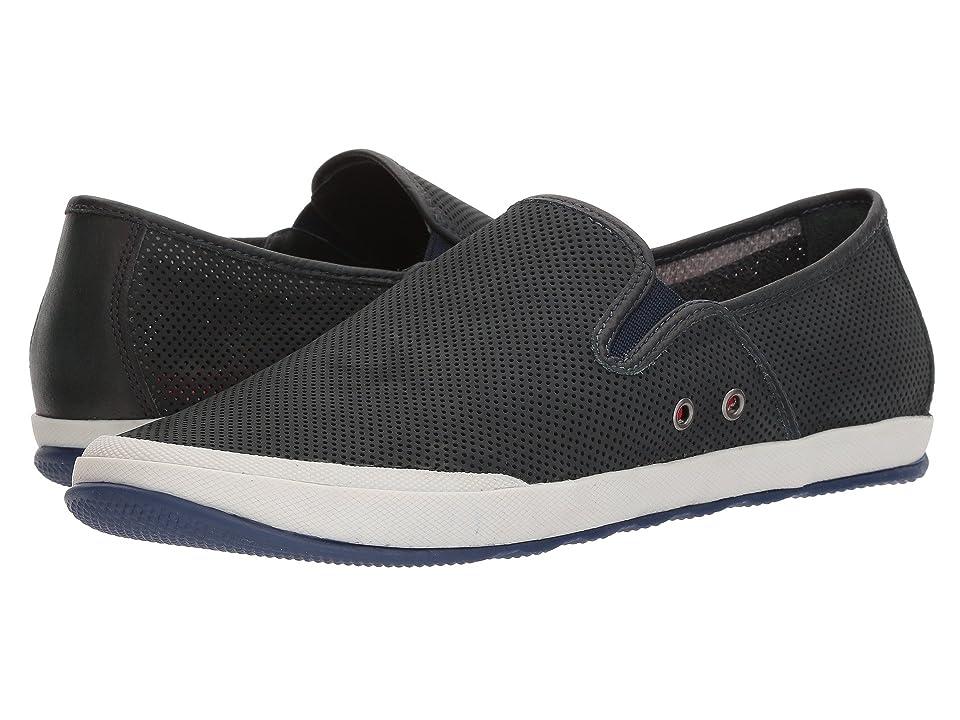 Johnston & Murphy Mullen Slip-On Sneaker (Navy Perfed Nubuck) Men