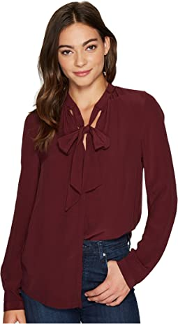 Lucky Brand - Tie Neck Top