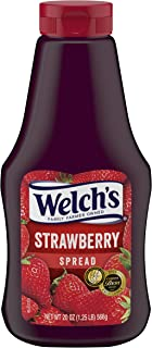Welch's Strawberry Spread, No Artificial Flavors or Colors, 20 Ounce Squeeze Bottles (Pack of 12)