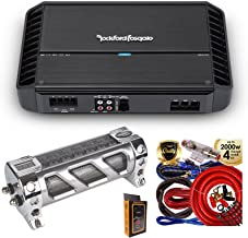 Rockford Fosgate P500X2 500W RMS Punch Series 2-Channel Stereo Class AB Car Power Amplifier with 2.5 Farad Capacitor & 4 Gauge Amp Kit