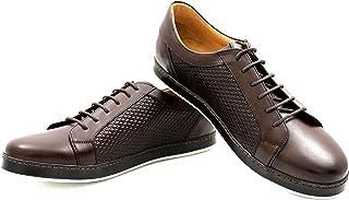 CANNERI Sneaker da Uomo - 9609 - Sneaker Basse Stringate - Scarpe da Ginnastica Basse - Scarpe Casual in Pelle con Design ...