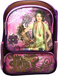 Disney's Wizards of Waverly Place Artsy Pink/Violet Full Size Backpack (16in)