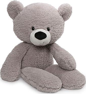 """GUND Fuzzy Teddy Bear Stuffed Animal Plush, Grey, 24"""""""