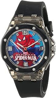 Marvel Ultimate Spider-Man  Kids' SPD3408 Analog Display Analog Quartz Black Watch