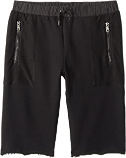 Hudson Kids French Terry Shorts in Black (Big Kids)