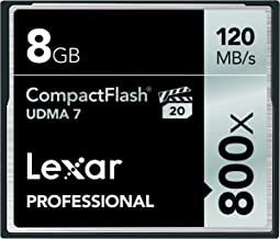 Lexar Professional 800x 8GB VPG-20 CompactFlash Card (Up to 120MB/s Read) w/Free Image Rescue 5 Software LCF8GBCRBNA800