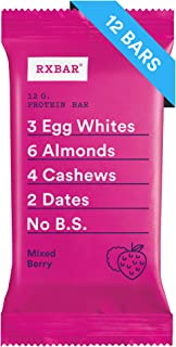 RXBAR, Mixed Berry, Protein Bar, 1.83 Ounce (Pack of 12) Breakfast Bar, High Protein Snack