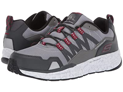 SKECHERS Escape Plan 2.0 Ashwick (Gray/Red) Men