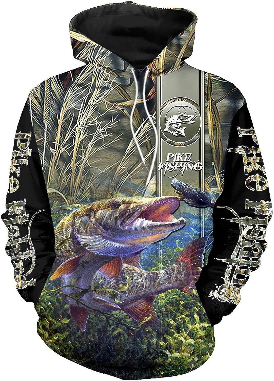 SWAG Hipster OFFicial Men Hoodies Pike Camo Fishing Tee Fort Worth Mall Hoodie Sweatshirt