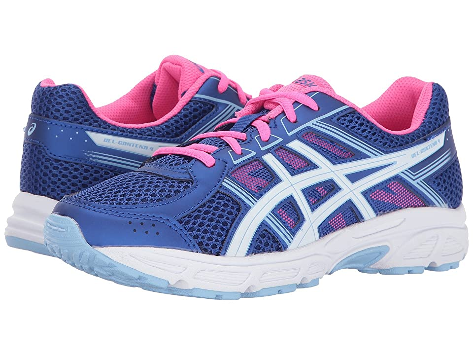 ASICS Kids GEL-Contend 4 GS (Little Kid/Big Kid) (Blue Purple/White/Airy Blue) Girls Shoes