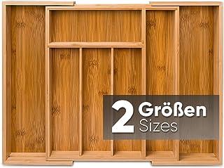Loco Bird Range Couverts - Range Tiroir Bambou Extensible - jusqu'à 7 compartiments - organisateur tiroir cuisine utile po...