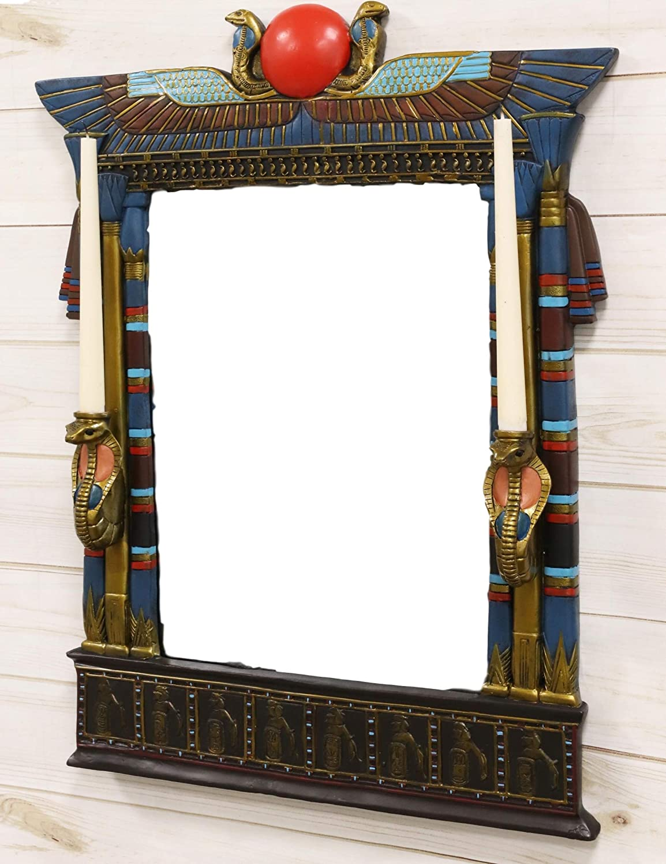 Ebros Colorful Ancient Egyptian San Diego Mall Double Uraeus Isis Cobras W with Washington Mall