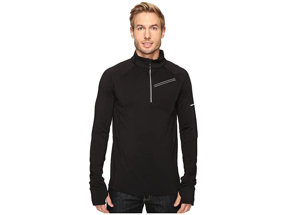 Obermeyer Flight Sport 75Wt Zip Top (Black) Men