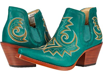 Durango Crush 6 Bootie w/ Embroidery (Turquoise) Women