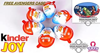 Avengers Surprise Case Free Chocolate Kinder Joy for Boys with Surprise Inside (6-Pack)