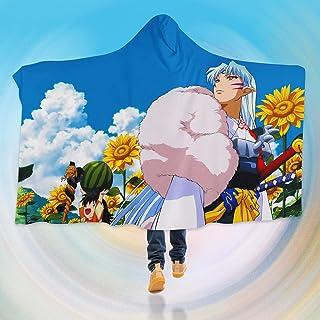 "AJ WALLPAPER 3D Inuyasha 126 Hooded Blanket Cloak Japan Anime Japanese Cosplay Game US Onion (M: 150x130cm(59""x51""))"