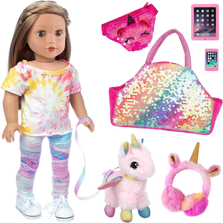 Ecore Fun Sale item 7 Piece supreme Doll Pet and Set Clo Accessories Included