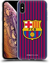 Official FC Barcelona Home 2018/19 Crest Kit Soft Gel Case Compatible for iPhone Xs Max