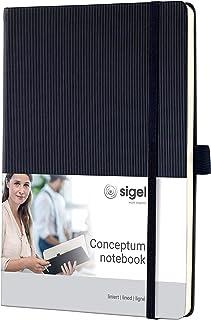 SIGEL CO122 Conceptum Libreta / Cuaderno, tapa dura, 14.8 x 21.3 cm, rayado, negro