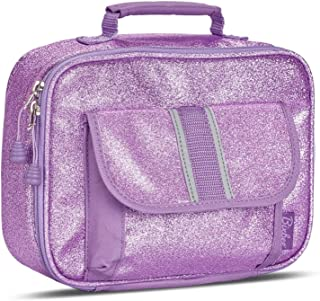 Bixbee Girls' Sparkalicious Glitter Insulated Lunchbox, Purple, One Size