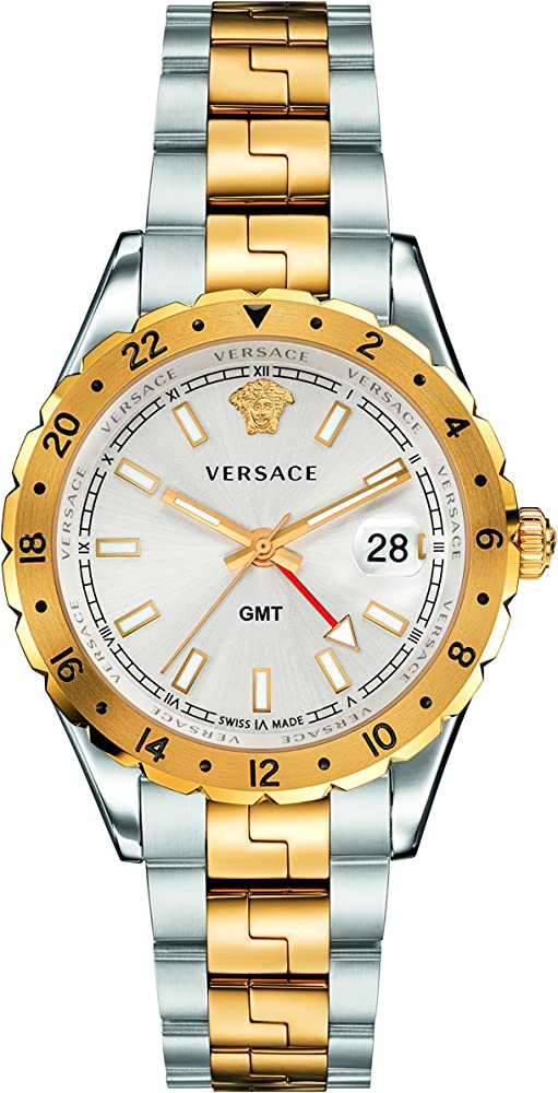 Versace orologio analogico quarzo unisex adulto con cinturino in acciaio inox V11030015
