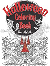 Halloween Coloring Book For Adults: 50 Unique Designs Of Geometric, Hand Drawn Mandala Halloween Theme Coloring Pages Of w...