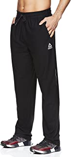 Reebok Men's Stride Track Pants - Performance Activewear Running & Workout Bottoms