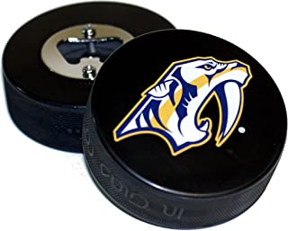 EBINGERS PLACE Nashville Predators Basic Logo Hockey NHL Puck Bottle Opener