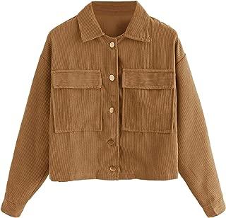 Best womens corduroy shirt jacket Reviews