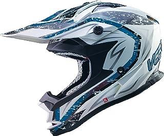 <h2>VCAN V321 Motorrad Motocross Helm ACU Gold Stamped Dual Sport Sturm Weiß/Blau L 59-60cm</h2>