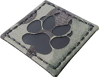Multicam Infrared IR K9 Dog Handler Paw K-9 2x2 Tactical Morale Hook-and-Loop Patch