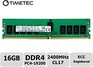 Timetec Hynix Original 16GB DDR4 2400MHz PC4-19200 Registered ECC 1.2V CL17 2Rx8 Dual Rank 288 Pin RDIMM Server Memory RAM Module Upgrade (16GB)
