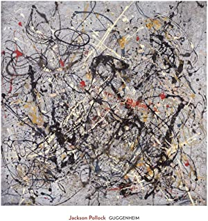 Number 18 1950 by Jackson Pollock Abstract Cool Colors Print Poster 29x28