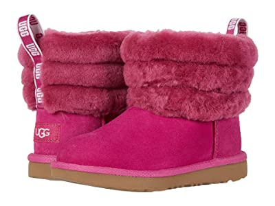 UGG Kids Fluff Mini Quilted (Little Kid/Big Kid) (Fuchsia) Girl