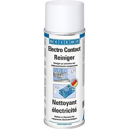 WEICON Nettoyant Electricité 400 ml/Spray contact incolore pour composants électroniques/Contre la corrosion, la poussières et les saletés/Augmente la conductivité