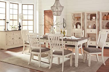 Signature Design by Ashley Bolanburg Upholstered Dining Room Chair Set of 2, Antique White