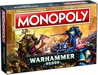 Monopoly Warhammer 40,000 Board Game | Based on Warhammer 40,000 from Games Workshop | Officially Licensed Warhammer 40,000 Merchandise | Themed Classic Monopoly Game